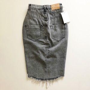 One Teaspoon Skirts - One Teaspoon Phantome Cadillac Gray Jean Skirt 23